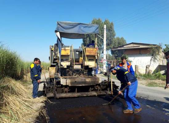 1100 مترمربع از معابر شهر ساری آسفالت شد