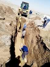 اجرایطرح رفع اتفاقات خطوط انتقال آب شهر بجستان آغاز شد