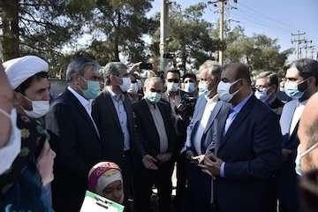 وزیر راه و شهرسازی از کمربندی جنوب و غرب شیراز بازدید کرد