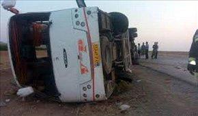 ۲۷ کشته و مصدوم در اثر واژگونی اتوبوس