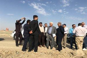 بازدید دکتر بهمنی از پروژه آزادراه چرمشهر- آبیک