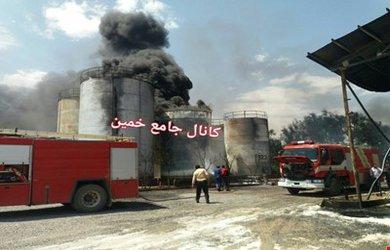 آتش سوزی در شهرک صنعتی خمین