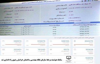 سامانه هوشمند برخط سازمان نظام مهندسی ساختمان خراسان رضوی راه اندازی شد