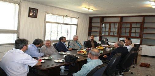 دیدار اعضای هیئت مدیره سازمان با آقای مهندس حمیدی زاده...
