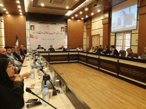 جلسه آب رسانی به نخیلات ماهشهر و بررسی وضعیت آب حوضه های آبریز کارون و مارون برگزار شد