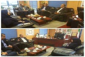 دیدار سرپرست ادراه کل راه و شهرسازی گیلان با مدیر جدید  امور شعب بانک مسکن استان گیلان