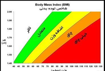 چاقی و لاغری طبق شاخص BMI