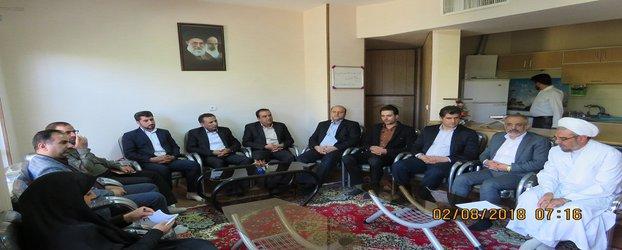 نشست صمیمانه فرماندار محترم شهرستان مبارکه با مسئولین شهر مجلسی