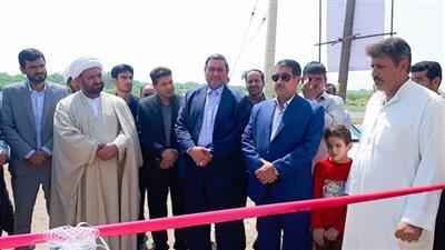 افتتاح پروژه توسعه شبکه آب شرب مناطق شهری حمیدیه