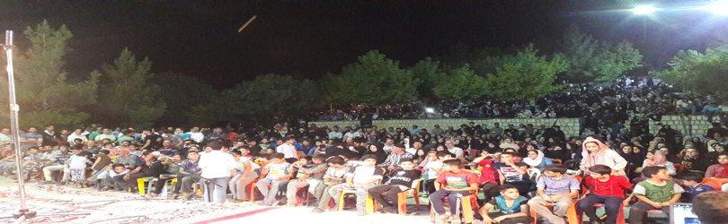 استقبال مردم شهر گودین از وِیژه برنامه شب نشینی