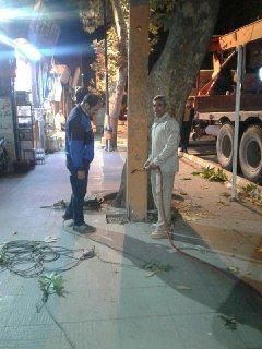 برداشت تیرهای بتونی واقع در خیابان امام (ره)