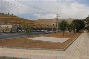 روند احداث فضای سبز در بلوار شهدای انتظام