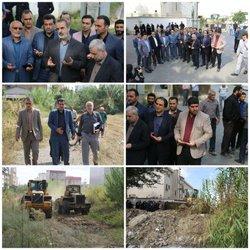 عملیات بازگشایی خیابان ۲۱ متری و آماده سازی پارک باغ سراج