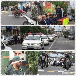 نمایش اقتدار و رژه نیروهای مسلح شهرستان به مناسبت هفته دفاع مقدس در حضور شهردار تنکابن و دیگر مسئولین شهرستانی