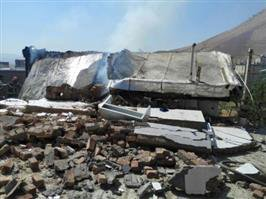 براثر نشت گاز در ناحیه منفصل شهری حسن آباد چهار منزل مسکونی تخریب شد