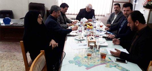 جلسه بررسی رفع موانع اجرای پروژه های شهری  رضوانشهر