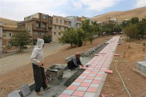 عملیات احداث پارک درون محلی در فاز ۲ شهرک سعدی
