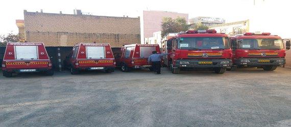 اضافه شدن ۱۳ دستگاه ماشین آلات آتش نشانی به شهرداری کرمانشاه
