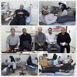 اهدای خون جمعی از پرسنل شهرداری