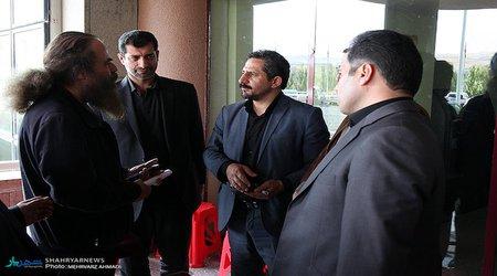 """حضور شهردار تبریز در پشت صحنه سریال """"روزهای بیقراری"""""""