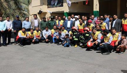 تجلیل از ماموران آتش نشانی و خدمات ایمنی توسط شهرداری بم