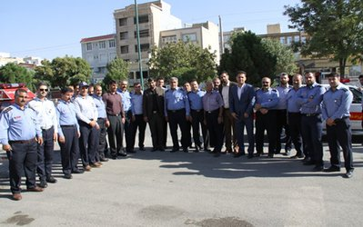 برگزاری مراسم روز آتش نشانی در کرمانشاه