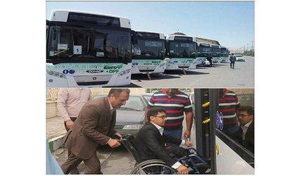 با تصمیم سازمان مدیریت حمل و نقل بار ومسافر شهردارى گرگان استفاده معلولین و