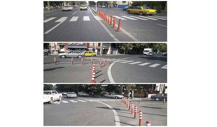 نوسازی و نصب استوانه های ترافیکی