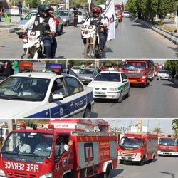 برگزاری رژه خودرویی سازمان آتش نشانی شهرداری خرمشهر