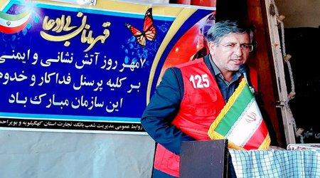 نماینده شهرداران استان در مراسم روز آتش نشان: آتشنشانان شهرداریهای کهگیلویه و بویراحمد تبدیل وضعیت شوند