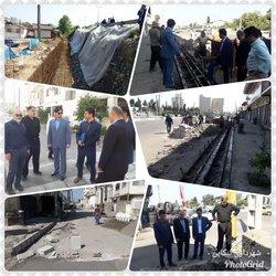 بازدید شهردار بهمراه اعضای محترم شورای اسلامی شهر تنکابن از پروژه های عمرانی سطح شهر