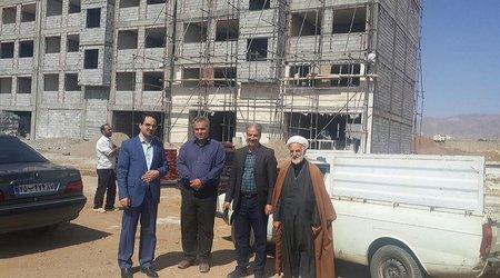 بازدید مدیر کل بنیاد مسکن استان  از پروژه ۸۸ واحدی امید هیدج شهرستان ابهر
