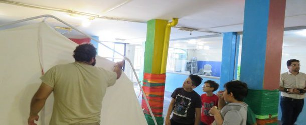 آموزش ویژه آمادگی برای زلزله برای گروه سنی مقطع دبستان در مدرسه سلام شهدای خلیج فارس