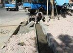 اجرای عملیات جدول گذاری در سطح منطقه ۴ شهر ارومیه