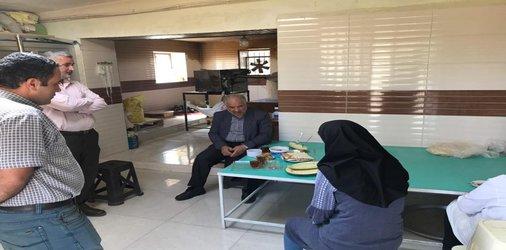 بازدید رئیس شورای اسلامی شهر دامغان از شرکت تعاونی روستایی زنان امید دامنکوه