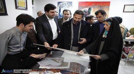 گزارش تصویری / بازدید شهردار کلانشهر تبریز از یازدهمین سوگواره تجسمی ۷۲ بغض بوم