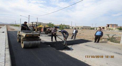 شروع پروژه لکه گیری معابر سطح شهر توسط شهرداری و شورای اسلامی شهر مجلسی