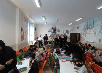 برگزاری مسابقه نقاشی به مناسبت هفته کودک و آتش نشانی