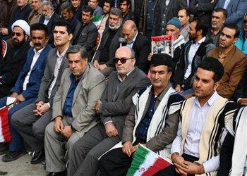 حضور شهردار و کارکنان شهرداری شهرکرد در راهپیمایی ۱۳ آبان