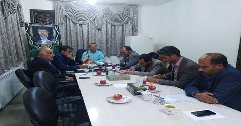 جلسه ای در خصوص بررسی مسائل ومشکلات سطح شهر