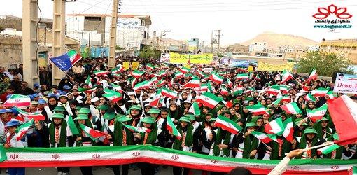 حضور پرشور دانش آموزان و امت حزب الله در راهپیمایی ۱۳ آبان