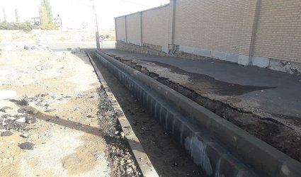 ساماندهی و هدایت آب های سطحی با ایجاد ۲  کانال جدید در شهر