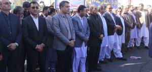 حضور اعضای شورای اسلامی شهر در مراسم راهپیمایی یوم الله ۱۳ آبان