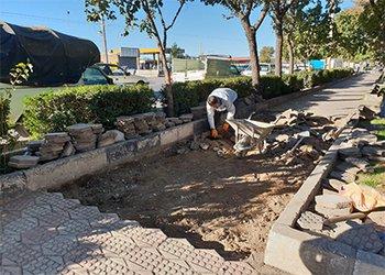 طرح بازسازی معابر بوستان نارنج در دست اجرا قرار دارد