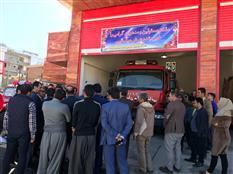 افتتاحیه  ساختمان آتش نشانی ۲ واقع در جاده ترخان آباد با حضور مسئولین کشور