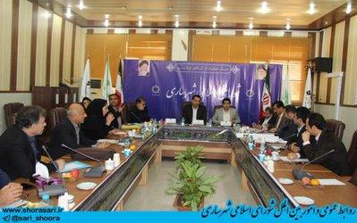 جلسه کمیسیون عمران و فنی شورای اسلامی شهر ساری با دو مصوبه