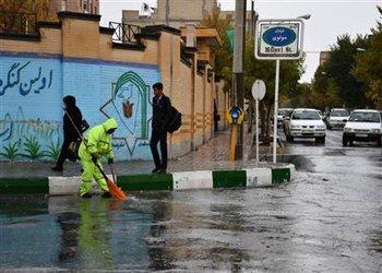 آماده باش شهرداری شهرکرد جهت رفع مشکلات ناشی از بارندگی ها