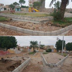 اتمام عملیات اجرایی جدول گذاری پارک اردیبهشت و آماده سازی جهت احداث پیاده رو
