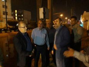 بازدید مدیرکل مدیریت بحران استان خوزستان  از وضعیت آبگرفتگی خیابان های سروش و زینب بنی هاشم اهواز