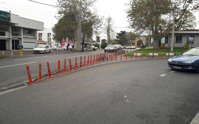 اصلاح استوانههای ترافیکی در ۱۶ نقطه خیابانهای گرگان
